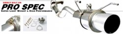 (Buddy Club BC03-PSEX03AP1 Pro Spec Dual Exhaust Muffler for Honda S2000 2000-2003)