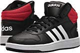 adidas Hoops 2.0 Mid Shoe Men's Basketball 16 Core Black-White-Scarlet by adidas