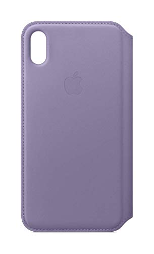 iPhone XS Max Leather Folio - Lilac