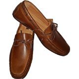GBX Men's Casual Soft Genuine Leather Henley Loafer/Boat Shoe (10 (D)) Brown