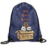 Price comparison product image AK79 Large Capacity We Bare Bears Travelling Bag White
