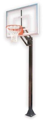 最初チームChamp iii-bp steel-acrylic in ground調整可能バスケットボールsystem44、マルーン B01HC0DCIC