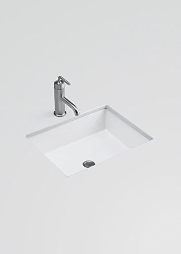 Beau KOHLER K 2882 96 Verticyl Rectangle Undercounter Bathroom Sink, Biscuit    Under Mounted Sinks   Amazon.com