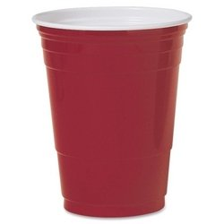 Solo Cup Company Party Cups, Plastic, 16 oz., 50/PK, Red PROD-ID : 932623