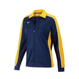 Speedo 7201482 Women's Streamline Warm Up Jacket, Navy/Gold - S