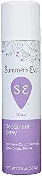 Summers Eve Feminine Deodorant Spray Ultra Extra Strength - 2 oz (Pack of 4)