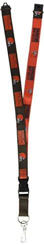 - Pro Specialties Group NFL Cleveland Browns Two Tone Lanyard, Brown/Orange, One Size