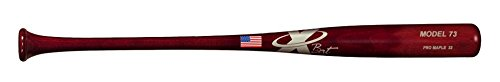 X Bats - Pro Model 73 - 33 Inch Wood Baseball Bat - Maple - Red Mahogany Finish - BBCOR Certified