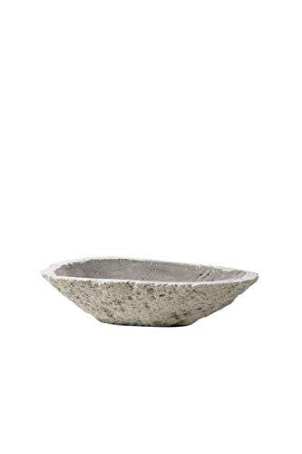 Serene Spaces Living Decorative Pumice Stone Bowl, Unique Lava Rock Container, Measures 13