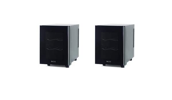 2 Pack Black Commercial Cool CCWT060MB Thermal Electric 6 Bottle Wine Cellar