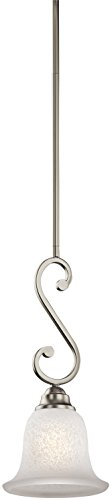 Kichler 43230NI Camerena Mini Pendant 1-Light, Brushed Nickel