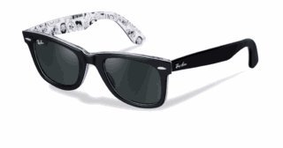 b9a83fb0bb Image Unavailable. Image not available for. Colour  RAY BAN WAYFARER BLACK  WITH COMIC ...