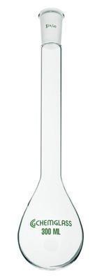 Chemglass CG-1513-12 Series CG-1513 Kjeldahl Flask, Long Neck, 14/20 Outer Joint, 50 mL Capacity