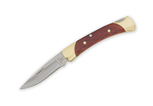 Buck Knives 055 Mini 110 Folding Hunter Rosewood Drop Point Locking Pocket Knife The 55