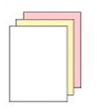 8.5 x 11 Excel One Carbonless Paper, 3 Part Reverse (Bright White/Canary/Pink)
