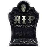 15 in. Bluetooth Halloween LED Light Up Tombstone Speaker -