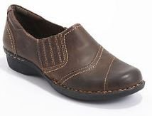 Clarks Whistle Role Womens Loafer Brown Leather 11-Medium YmSfgZu