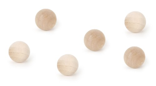 Darice 9103-90 Round Wood Ball, 1/2-Inch