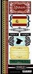 Scrapbook Customs - World Collection - Spain - Cardstock Stickers - - Spain Scrapbooking