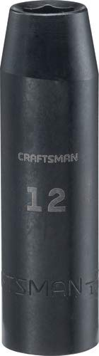 CRAFTSMAN Deep Impact Socket, Metric, 1/2-Inch Drive, 13mm (CMMT16074)