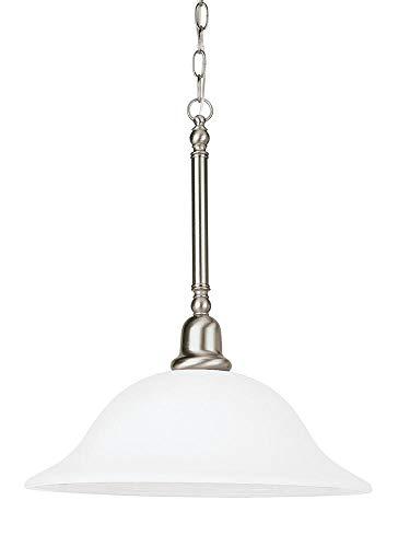 Sea Gull Lighting 66060EN3-962 One Light Pendant, Brushed Nickel