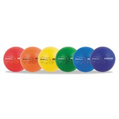 -- Rhino Skin Dodge Ball Set, 7'' Diameter, Assorted, 6 Balls/Set