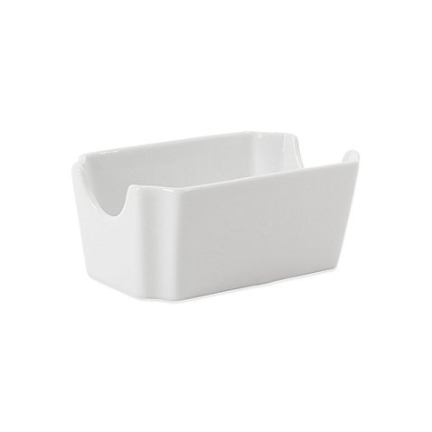 White Porcelain Sugar Packet Holder ()