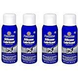 Permatex  80070 Silicone Spray Lubricant, 10.25 oz. net Aerosol Can (4 Pack)