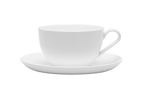 Red Vanilla Pure Vanilla 7-Inch Jumbo Cup/Saucer, 14-Ounce, Set of 2 by Red Vanilla