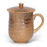 Japanese Mug with Lid%2C Iga Oribe