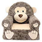 (Sweet Seats Sturdy, Soft, Cozy and Adorable, Plush Monkey Chair in Brown with Sweet Embroidered Details on the Face, Hands and)