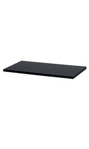 Melamine Shelves Black Laminated with existing 12'' shelf brackets 48'' x 12'' by Melamine Shelves