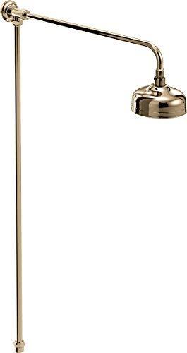 Bristan TRD RISE G Traditional Rigid Riser Shower Kit Vintage, Gold