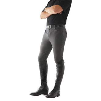 - Ovation Men's Euroweave Knee Patch Breeches Charcoal Grey 30 R US