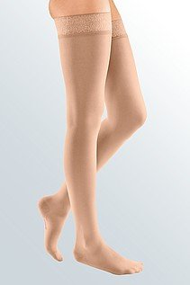 Thigh High Compression Stocking 15-20 mmHg (CE 18-22 mmHg) For Women. Size Small. Made in Italy. FDA. Recommended For Varicose Veins Socks, Dress Socks, Flight Travel (MC125US) by KX Medical