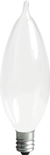GE Lighting Soft White 66106 40-Watt, 360-Lumen Bent Tip Light (White Incandescent Ge Light Bulb)