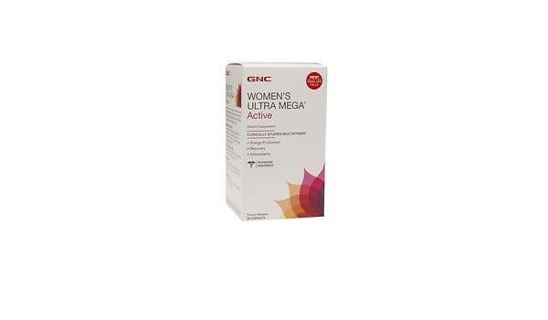 GNC Womens Ultra Mega Active Multivitamin, 90 ea by gnc womens: Amazon.es: Salud y cuidado personal