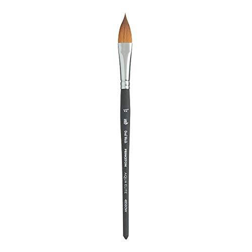 Princeton Aqua Elite NextGen Artist Brush, Series 4850 Synthetic Kolinsky Sable for Watercolor, Oval Wash, Size -
