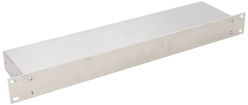 BUD Industries CH-14400 Aluminum Small Rack Mount Chassis, 17'' Width x 1-3/4'' Height x 4'' Depth, Natural Finish by BUD Industries