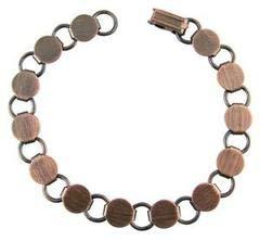 Fuseworks Antique Copper Linked Bracelet, 1-Pack
