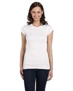 (Bella Ladies Kimberley Cap Sleeve Crewneck T-Shirt - White -)