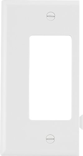 EATON Wiring STE26W Polycarbonate 1-Gang Decorator Sectional Mid Size Wall Plate, White