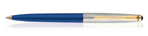 (Parker Galaxy Standard Blue Barrell Ball Pen, Ball Point Gold Trim Body with Blue Ink)