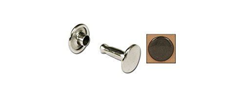 Tandy Leather Double Cap Rivets Medium Black 100/pk 1373-13 (Base Leather Black Gunmetal)