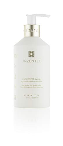 (Zents Ageless Aloe Moisture Body and Hand Wash, Cleanse and Nourish Dry Skin with Shea Butter and Organic Aloe 10 fl oz / 300 ml (Unzented))