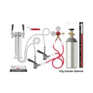(Double Tap Tower Kegerator Conversion Kit (Stainless Steel Tower w/ 5 lb CO2 Tank))