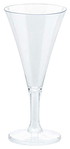 Amscan 357804.86 Mini Champagne Flutes, 2.5 oz, Clear