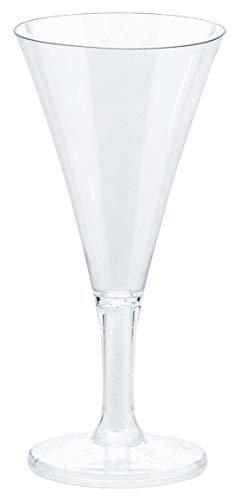 Amscan 357804.86 Mini Champagne Flutes, 2.5 oz, Clear -