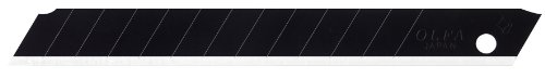 (OLFA 9148US ABB-10B 9mm Ultra Sharp Black Snap-off Blade, 10-Pack)