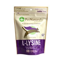 Pet Naturals of Vermont L-Lysine 60 Fun-Shaped Chews for Cats - 6 pack from Worldwide Sourcing